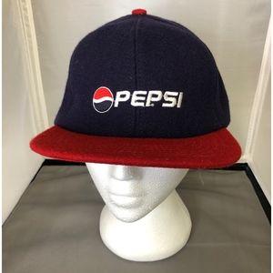 Pepsi Cola Snapback Hat 100% Wool  Baseball Cap